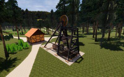 Górnicza wieża w Górniczej Wiosce