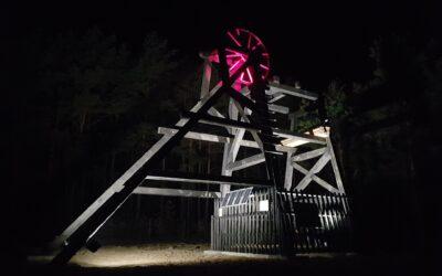 Wieża wyciągowa zrekonstruowana